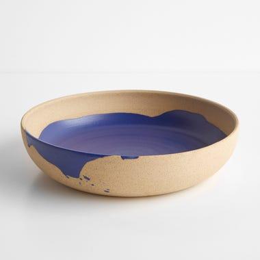 Ilog Cobalt and Tan Serve Bowl