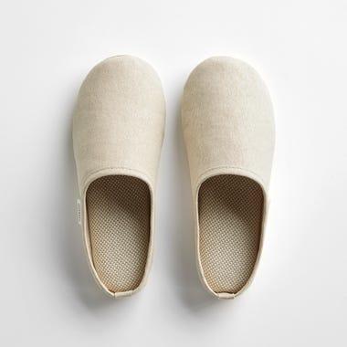 Sasawashi Beige Room Shoes Large