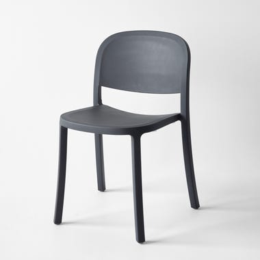 1 Inch Dark Gray Reclaimed Stacking Chair