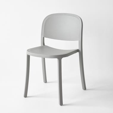 1 Inch Light Gray Reclaimed Stacking Chair