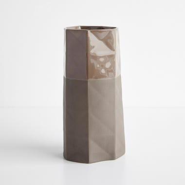 Origami Chocolate Large Vase