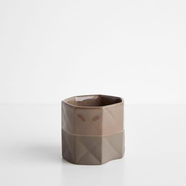 Origami Chocolate Small Vase