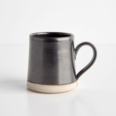 Thrown Gloss Black Mug