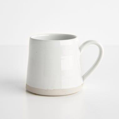 Thrown Gloss White Mug