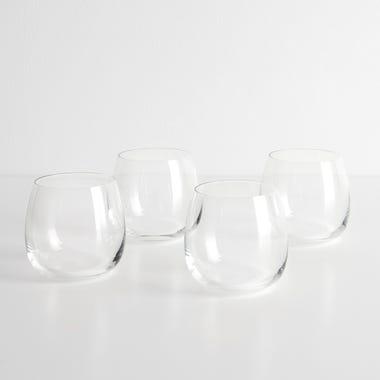 LSA International Borough Stemless White Wine Glasses Set of 4