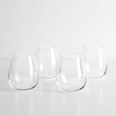 LSA International Borough Stemless Red Wine Glasses Set of 4