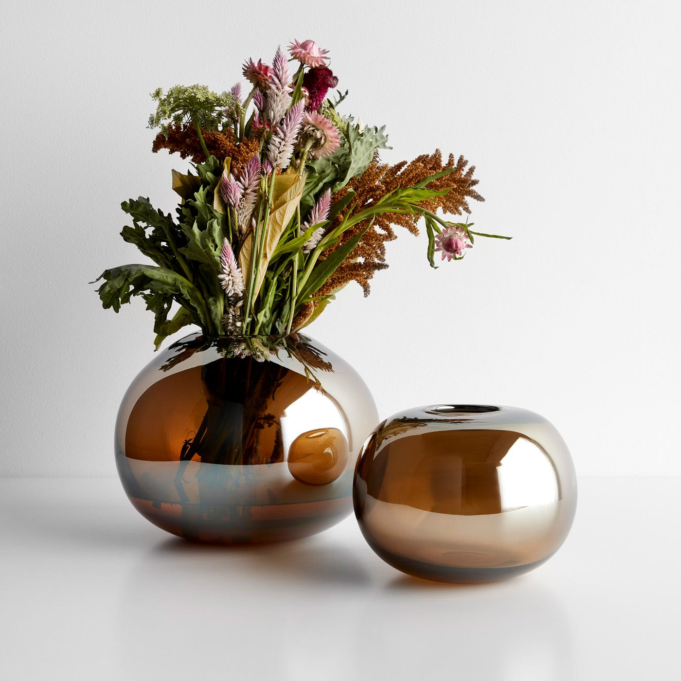 LSA International Epoque Amber Vases