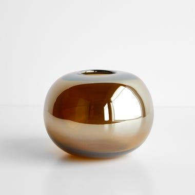 "LSA International Epoque Amber Vase 5.25"""