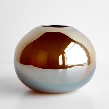 "LSA International Epoque Amber Vase 7"""