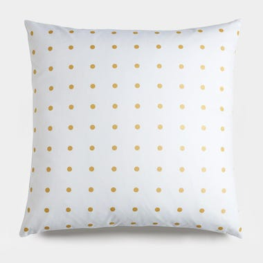 "Dots Gold Throw Pillow Cover 17"" x 17"""