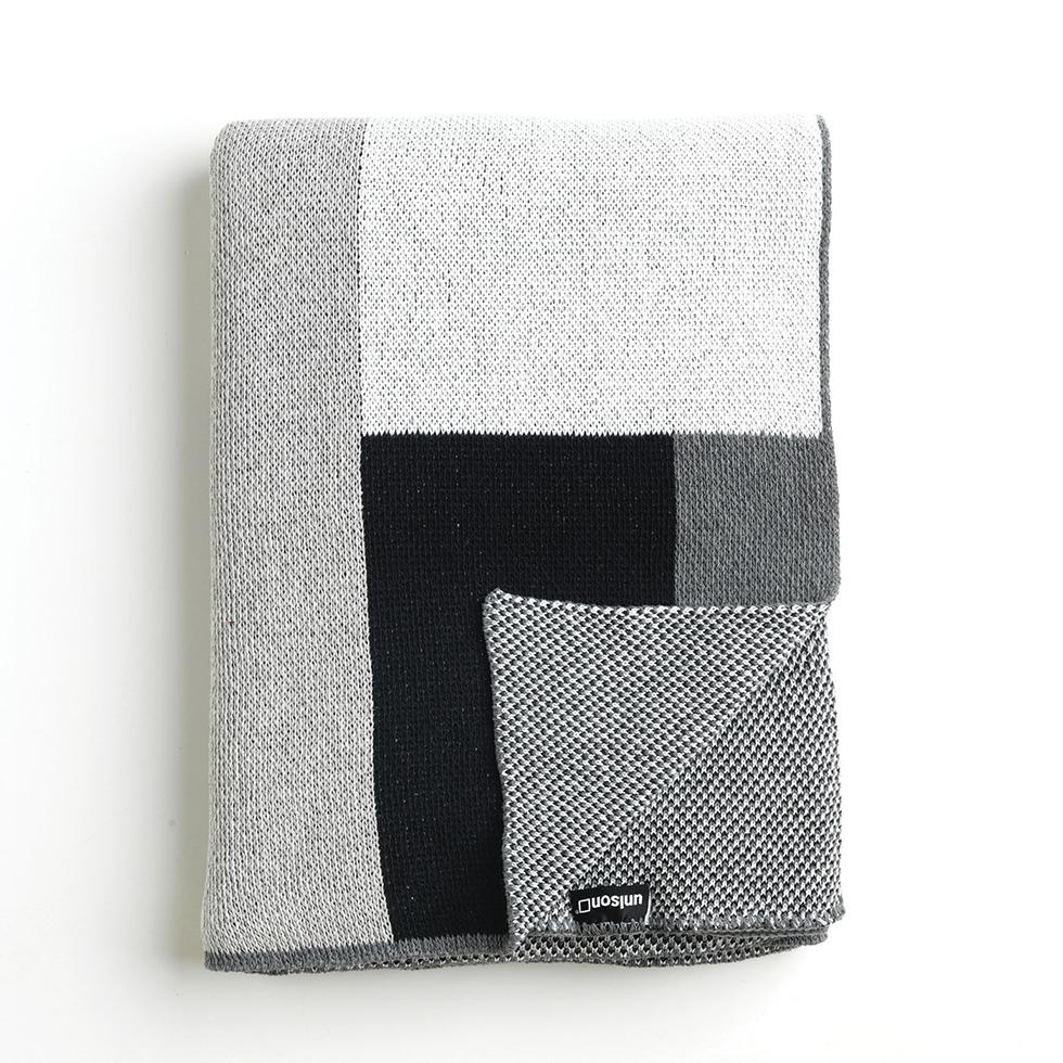 Sonia Graphite Knit Throw Blanket