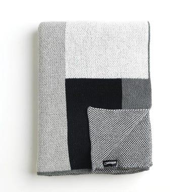 Sonia Graphite Knit Throw Blanket