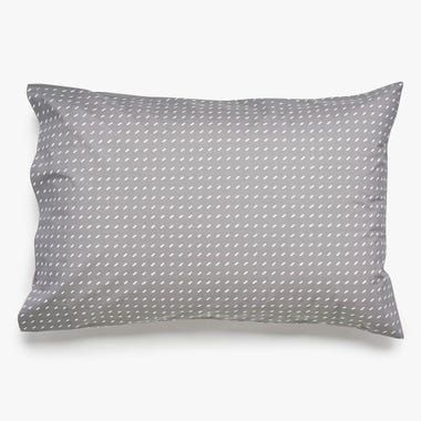 Stitch Pewter + White Pillowcase Set