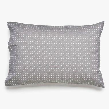 Stitch Pewter + White Pillowcase Set