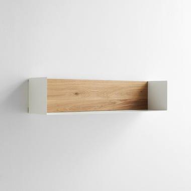 White Large U Wall Shelf