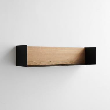 Black Large U Wall Shelf