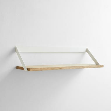 Ribbon White Wall Shelf