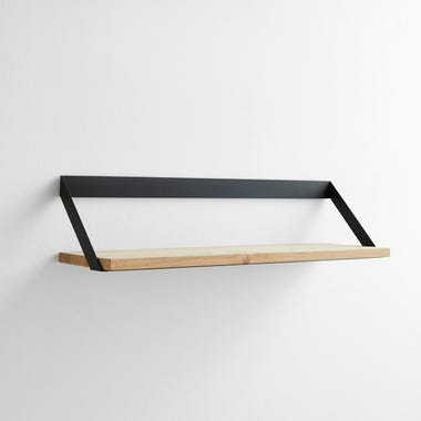 Ribbon Black Wall Shelf