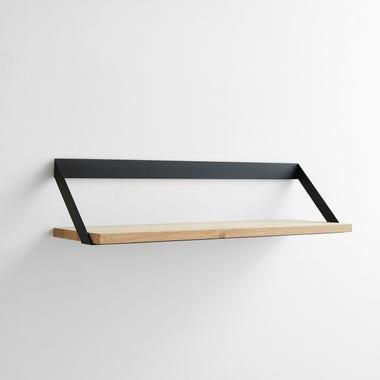 Ribbon Black Wall Shelf