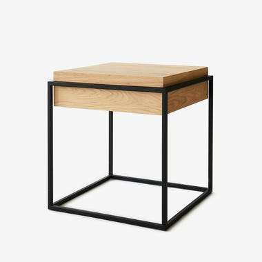 Cube Black Side Table