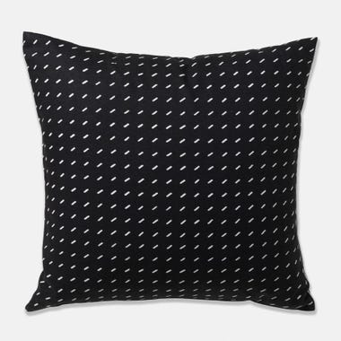 "Stitch Black Throw Pillow Cover 22"" x 22"""