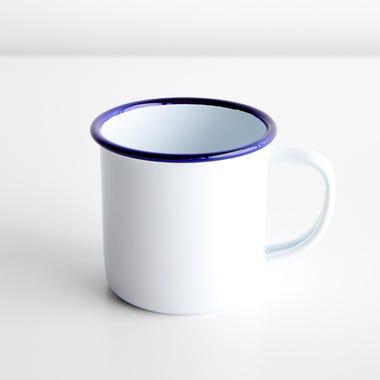 Falcon White Enamelware Mug