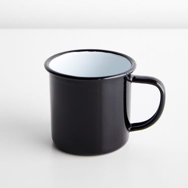 Falcon Black Enamelware Mug