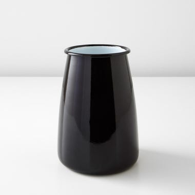 Falcon Black Enamelware Utensil Pot