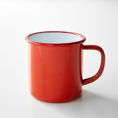 Falcon Red Enamelware Mug