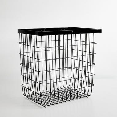 Tower Black Large Floor Basket