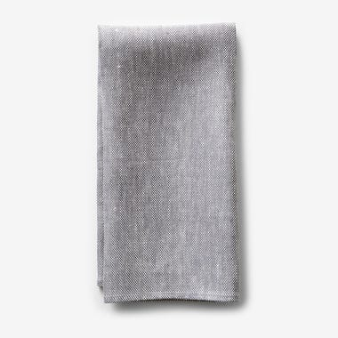 Chambray Gray Linen Dishtowel