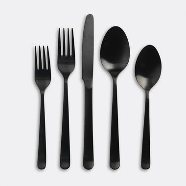Galvin Black 5pc Flatware Set