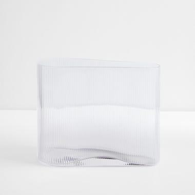 "Mist Clear Vase 8.25"" H"