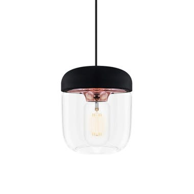 Acorn Black & Copper Pendant & Canopy