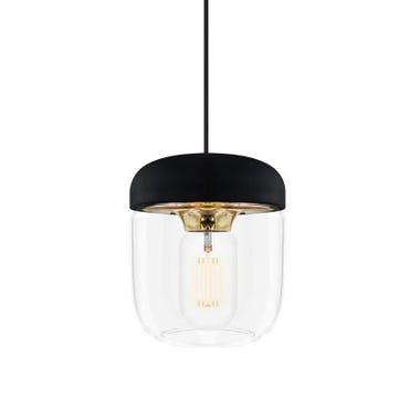 Acorn Black & Brass Pendant & Canopy