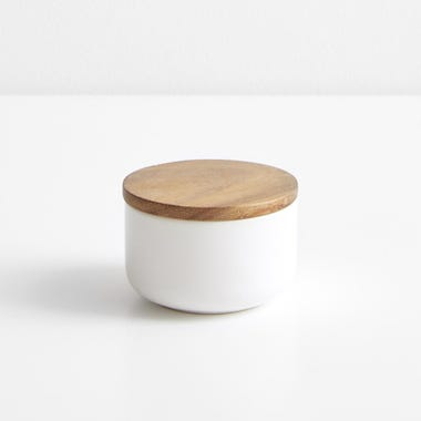 Stoneware Container White Small