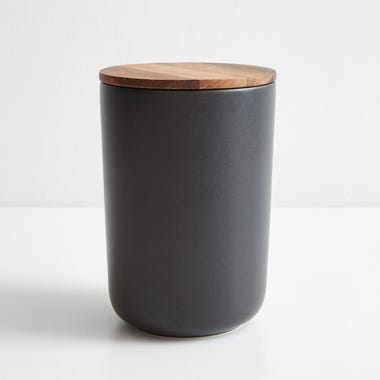 Stoneware Container Black Extra Large