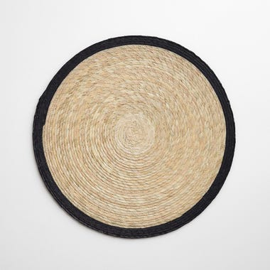 Black Band Round Placemat
