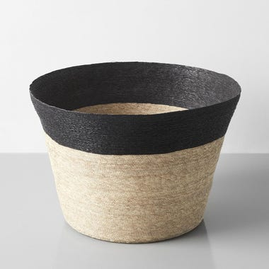 Black Band Tall Floor Basket