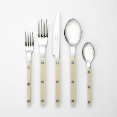 Bistro Ivory 5pc Flatware Set