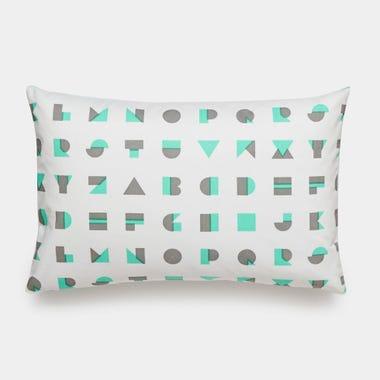 Alphablocks_Mint_Throw_Pillow_12x18