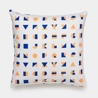 Alphablocks_Peach_Throw_Pillow_17x17