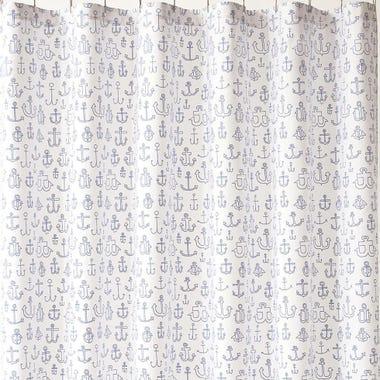 Anchors Blue Shower Curtain