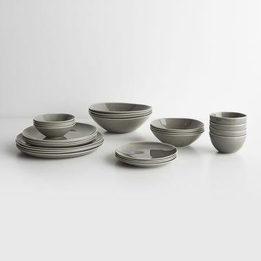 Atelier Tete Gray Dinnerware Collection