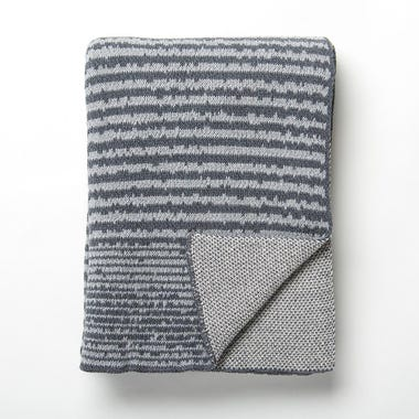 Strata Gray Knit Blanket