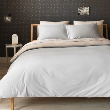 Chambray Sand + Stone Reversible Duvet Cover