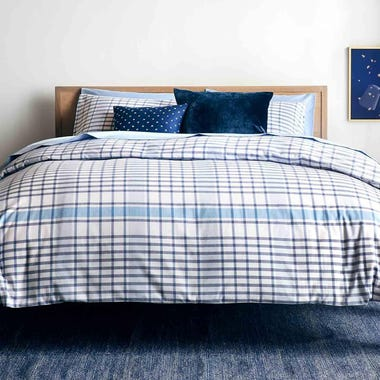 Humboldt Blue Duvet Cover Queen
