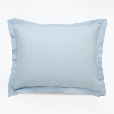Linen Powder Blue Sham Set