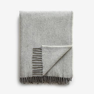 Jackson Gray Wool Throw Blanket