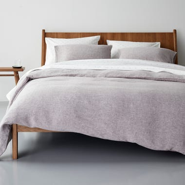 Burgundy Chambray Duvet Cover